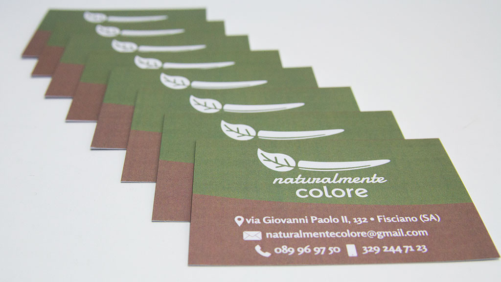 Naturalmente colore business card